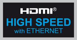 HDMI High Speed with Ethernet logo