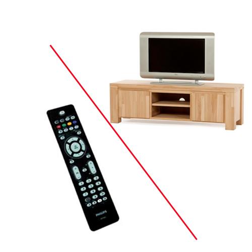 (Televisie-) apparatuur achter een kastdeur? De infrarood-verlenger is de oplossing!
